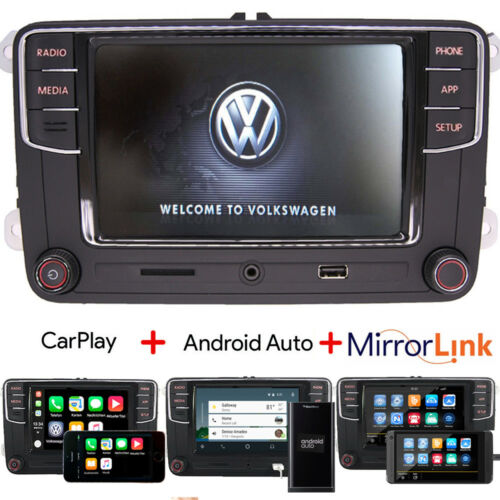 Autoradio RCD330+,Bluetooth,Carplay,Android Auto, Für VW Golf 5 6 Passat Seat T5