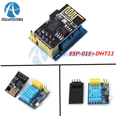 Esp8266 Esp-01s Wifi Wireless Module Dht11 Temperaturehumidity Shield Sensor
