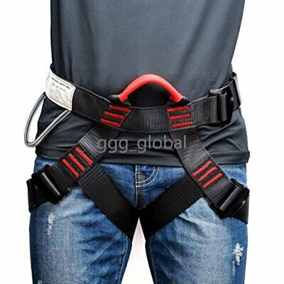 Professional Safety Rock Climbing Rappelling Harness Seat Sitting Waist Belt New