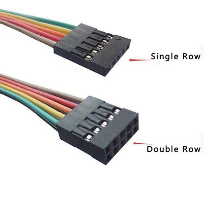 Singledouble Row Dupont 2.54mm Rainbow Cable Ribbon Jumper Wire Female-female