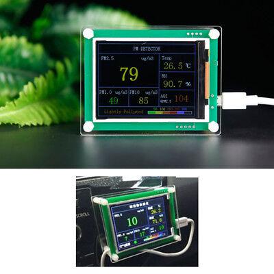 """2.8"""" Car PM2.5 Detector Tester Meter PM1.0 PM10 AQI particle matter Air Monitor"""