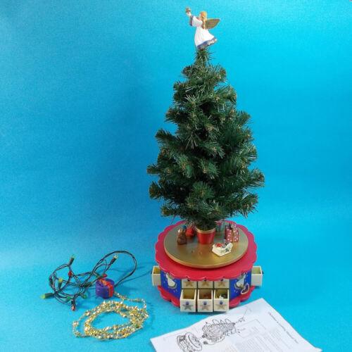 Vtg 90s Avon Christmas Is Coming Musical Revolving Advent Calendar Tree No Box
