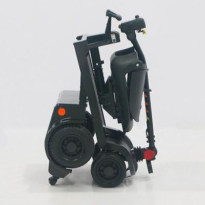 Easy Fold Portable Lightweight Folding Mobility Scooter 4 Wheel 4mph - Black