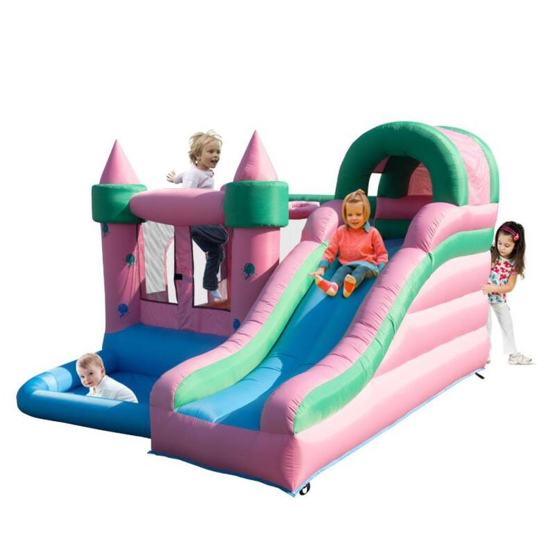 Inflatable Bounce House Slide Jellyfish Bouncy House Castle for Kids Party Play