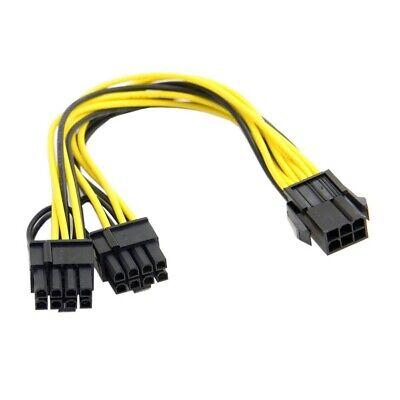Cable 6-pin PCI-E Hembra a 2 x PCI-E 6+2pin (8 pin) Macho
