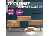 TV Cabinet 108x30x49 cm Solid Acacia Wood-247686