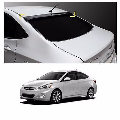 Roof Rear Visor Wing Spoiler Molding for Hyundai Accent 2012-2017