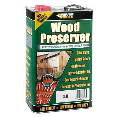 CLEAR WOOD PRESERVER EVERBUILD 5Ltr LITRE TREATMENT PROTECTION
