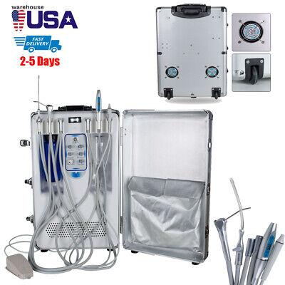 Portable Dental Unit Rolling Air Compressor Ultrasonic Scaler Led Curing Light