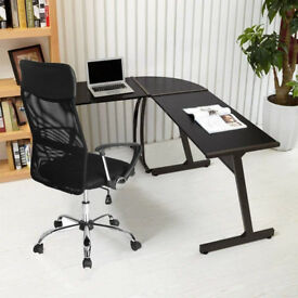 Coavas Computer Office Desk L-Shaped Wood Corner Table Large PC Gaming Study...