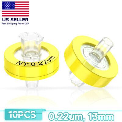 10-100x Syringe Filter Od13mm 0.22 Micron Plastic Nylon Disposable Chemistry