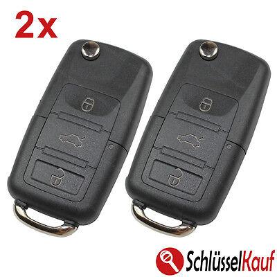 2 Piezas Plegable Llave 3 Teclas Carcasa de Coche Apto Para VW...
