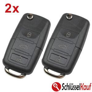 2 Stück VW Skoda Seat Klappschlüssel 3 Tasten Gehäuse Auto Fernbedienung Ersatz
