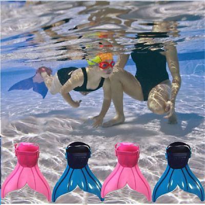 Kinder Mädchen Mermaid Flippers Monoflosse Schwimmen Kostüme Zug Flossen