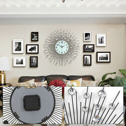 Wall Clock Circular Clock 60x60cm Modern Luxury Large Art Round Diamond Home USA