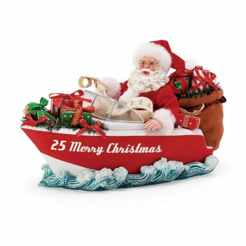 Dept 56 Possible Dreams MOTORBOAT, MOTORBOAT Santa Figurine 6008602 NEW 2021