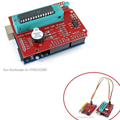 Avr Isp Shield Burn Bootloader Programmer For Arduino Test Block Module L2kd
