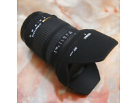 Sigma 17-70mm f2.8-4 lens DC Macro OS HSM - Canon EFs Fit