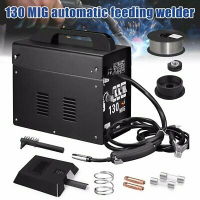 130 Mig Welder Automatic Feed Flux Core Wire Welding Machine W Mask Without Gas