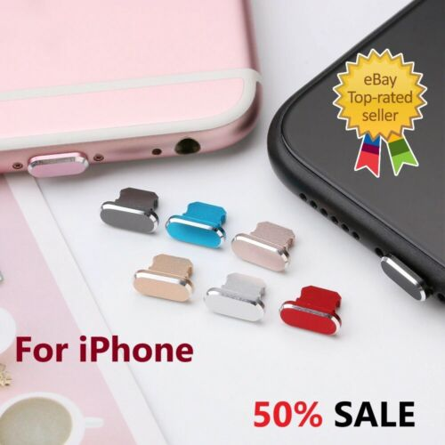 Charging Charger Port Anti Dust Plug Cap Cover For iPhone 5  X 11 XR 12 Max Pro
