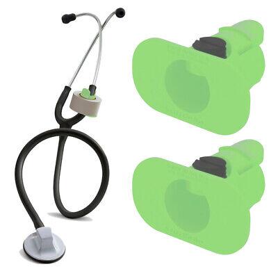2 Pack Of Green S3 Stethoscope Tape Holders - Littman Nursing Scrubs Ems Emt