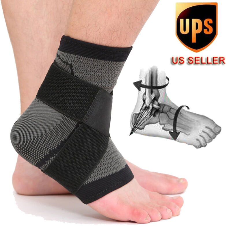 Ankle Brace Support Elastic Strap Bandage Foot Wrap Sports S