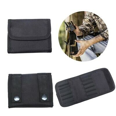 12 Pcs Bullet Stock Rifle Ammo Belt Wallet Bag Pouch Foldable Camp Hunting Box