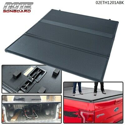 HARD Solid TRI-FOLD Tonneau SHORT Bed Cover FOR 2004-2018 FORD F150 5.5FT