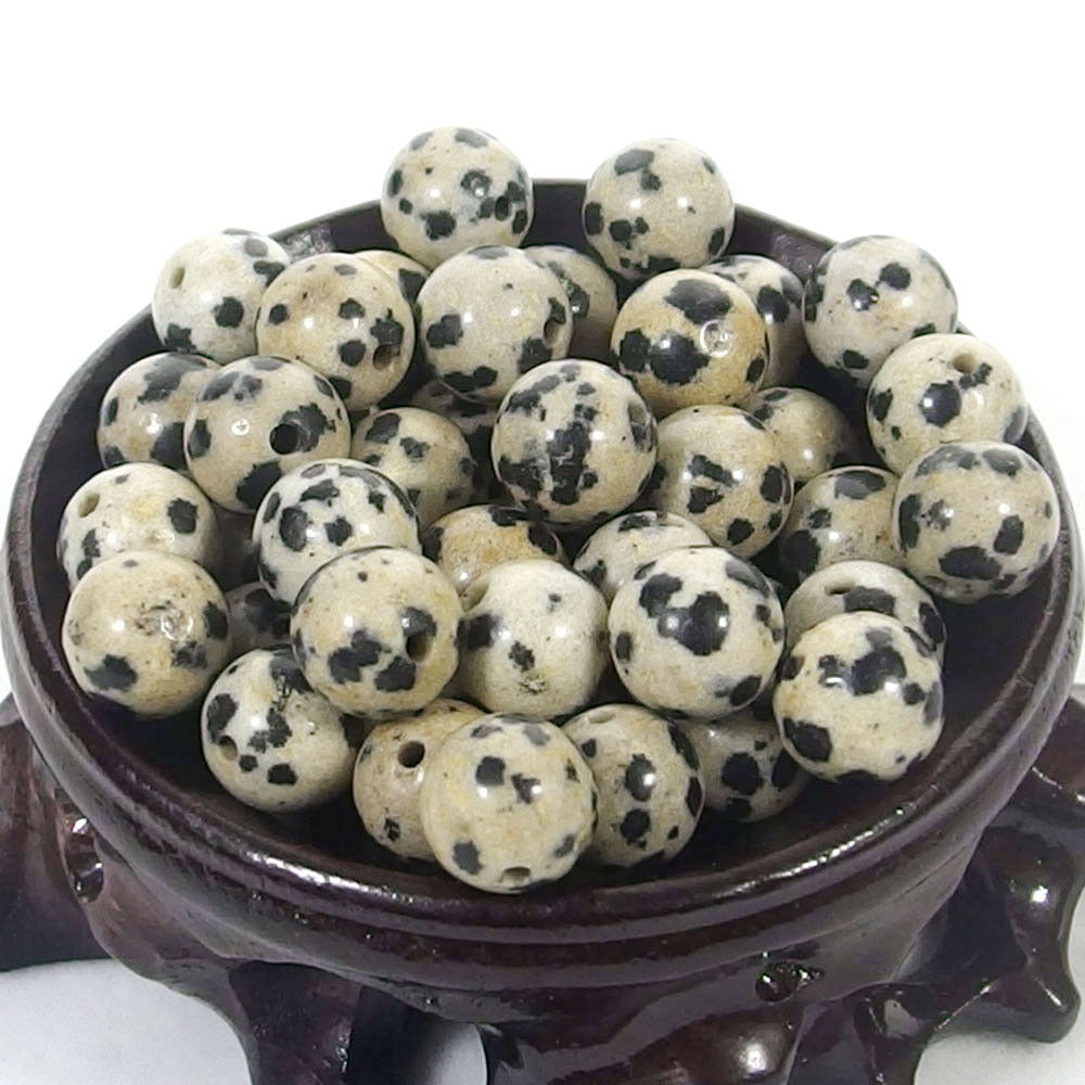 Bulk Gemstones I natural spacer stone beads 4mm 6mm 8mm 10mm 12mm jewelry design dalmation spot jasper