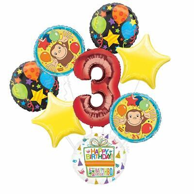 Curious George Party Supplies (Curious George 3rd Birthday Party Supplies Balloon Bouquet)