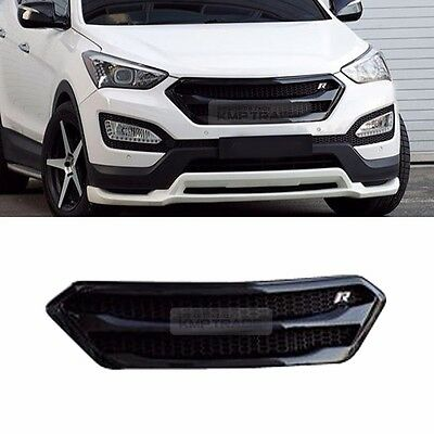 Front Bumper Radiator Grille Cover Unpainted for HYUNDAI 2013-2017 Santa Fe DM