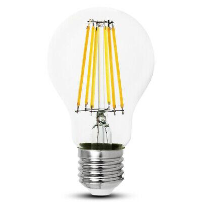 LED FILAMENT LAMPEN E27 A60 10W 12W Leuchte Glühbirne warmweiss - KWAZAR online kaufen
