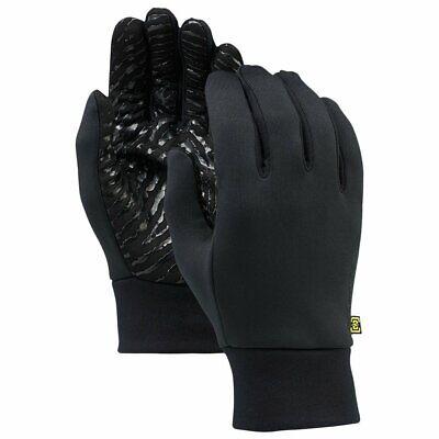 NEW! Burton Powerstretch Liner Running Riding Hiking Gloves Black Unisex SM/MED