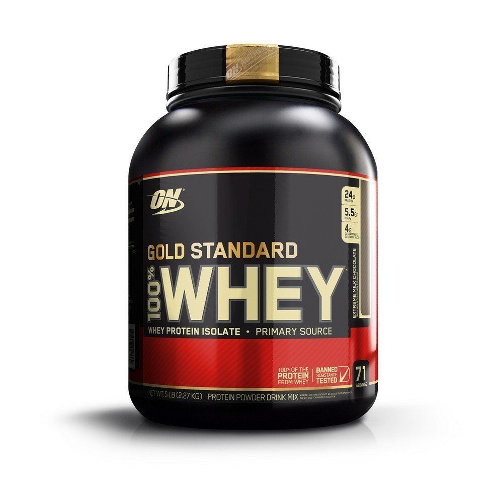 Optimum Nutrition 100 % Gold Standard Whey Protein 5 lbs - CHOOSE FLAVOR Extreme Milk Chocolate