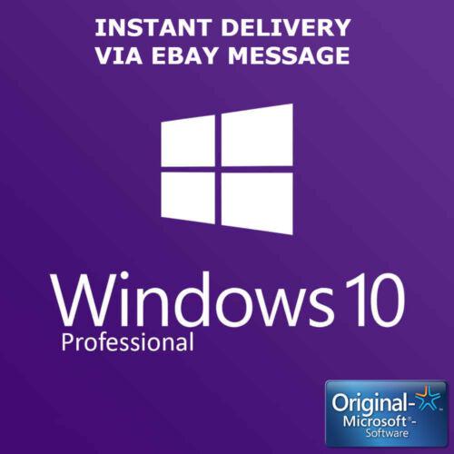 WINDOWS 10 PRO 32 / 64BIT PROFESSIONAL LICENSE KEY ORIGINAL CODE SCRAP PCH