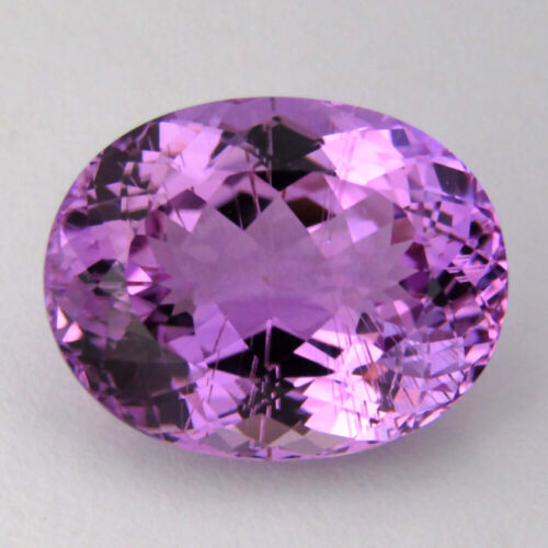 21.15CTS AWESOME! PINK NATURAL KUNZITE 19.5x15.3 MM OVAL SHAPE LOOSE GEMS VIDEO