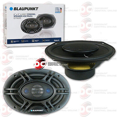 "BRAND NEW BLAUPUNKT 6 x 9"" 4-WAY CAR AUDIO COAXIAL SPEAKERS (PAIR) 900W MAX"
