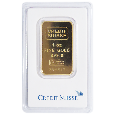 Купить Daily Deal - 1 Troy oz Credit Suisse Gold Bar .9999 Fine Sealed In Assay