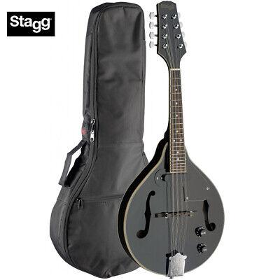 Stagg M50-E Premium A Style Bluegrass Acoustic Electric Mandolin Black + Gig Bag