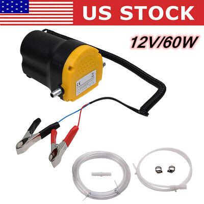 Electric 60w 12v Transfer Pump Extractor Oil Fluid Diesel Car Motorbike Kit Us