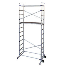 Trabattello mini ponteggio 365cm in alluminio antiscivolo lavoro edilizia PN/CLI