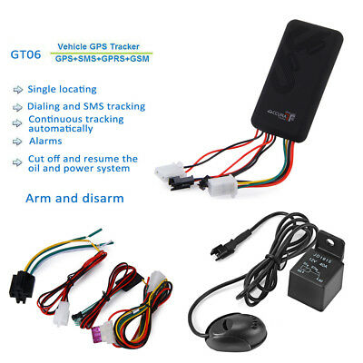 Realtime GT06 GPS GSM GPRS Car Tracker Locator Anti-theft SMS Tracking Alarm