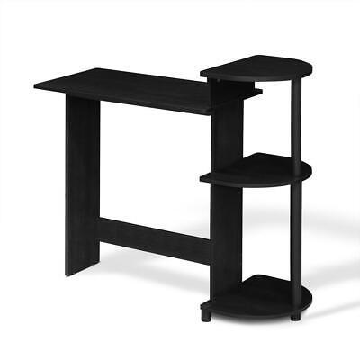 Compact Computer Desk With Shelves Americanoblack