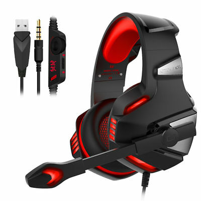 3 5Mm Gaming Headset Mic Led Headphones G7500 For Pc Mac Laptop Ps4 Xbox One 360