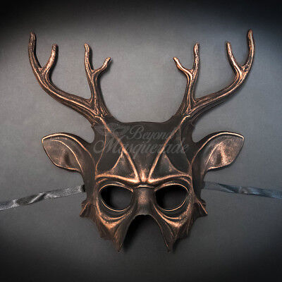 Masquerade Mask New 2017 Copper Deer Elk Halloween Props Animal Costume Unisex