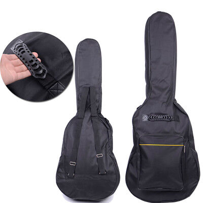 "Hot 41"" Nylon Padded Cotton Guitar Soft Case Gig Bag Backpack Black"