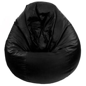 Black Leather Bean Bag Chairs