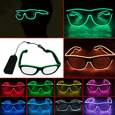 Wire Shutter Shaped Glasses for Rave Party Leuchtbrille (Led Brille Rave)