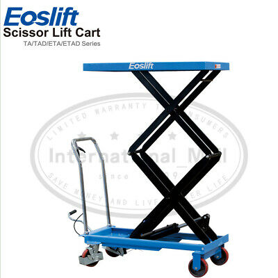 Eoslift Tad35 Hydraulic Dual Manual Scissor Lift Table Cart 20.5x39.8 770lbs Us