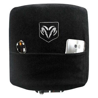 For Ram 2500 2010-2020 Seat Armour Black Cotton/Terry Velour Console Cover
